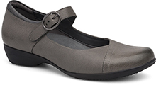 Dansko Outlet - Fawna Grey Burnished Nappa