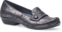 Dansko Outlet - Olena Pewter Metallic Printed Suede