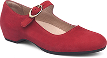 Linette Red Nubuck