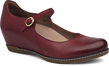 Dansko Outlet - Loralie Red Burnished Nubuck