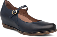Dansko Outlet - Loralie Navy Burnished Calf