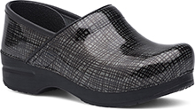 Dansko Outlet - Wide Pro Silver/Black Crisscross