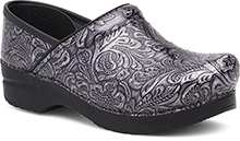 Dansko Outlet - Wide Pro Wide Pro Grey Tooled Patent
