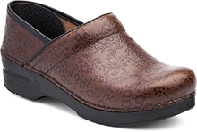 Dansko Outlet - Professional Brown Floral Embossed