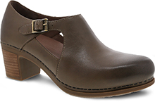 Dansko Outlet - Hollie Taupe Burnished Calf