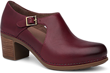 Dansko Outlet - Hollie Wine Burnished Calf