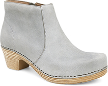 Dansko Outlet - Maria Light Grey Milled Nubuck