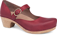Dansko Outlet - Missy Red Veg
