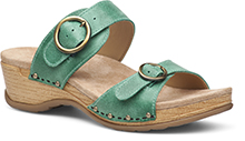 Dansko Outlet - Manda Mint Washed Leather