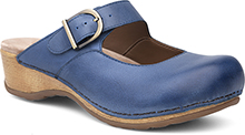 Dansko Outlet - Martina Blue Burnished Nappa