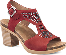 Dansko Outlet - Deandra Red Nubuck
