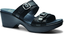 Dansko Outlet - Jessie Black Lizard Printed