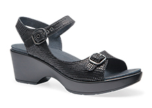 Dansko Outlet - Joanie Black Lizard Printed