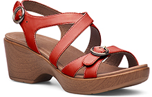 Dansko Outlet - Julie Red Full Grain