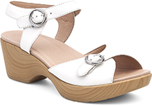 Dansko Outlet - June White Full Grain