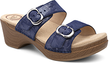 Dansko Outlet - Sophie Blue Shimmer Metallic