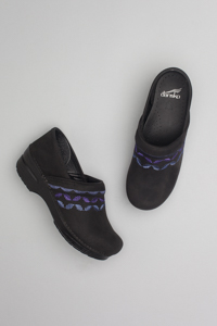 Professional Black Embroidered Nubuck