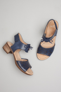 Liz Blue Antiqued Calf