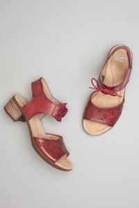 Liz Red Antiqued Calf