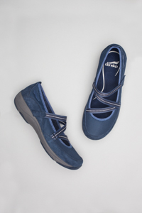 Hazel Dark Blue Suede