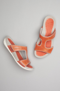 Kendall Orange Washed Leather