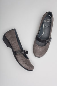 Orla Grey Snake Textured Patent