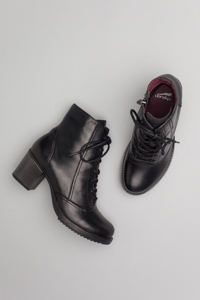 Ames Black Antiqued Calf
