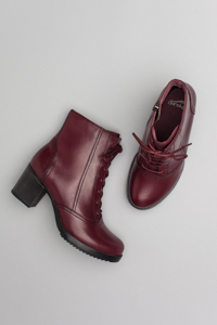 Ames Red Antiqued Calf