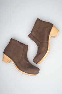 Maria Brown Milled Nubuck