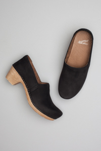 Mavis Black Milled Nubuck