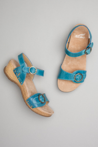 Mabel Blue Washed Leather