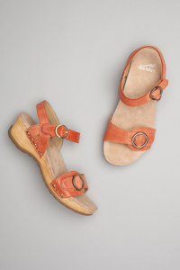 Mabel Orange Washed Leather