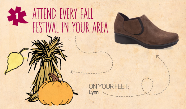 10 Fall Adventures for 10 Dansko Shoes -