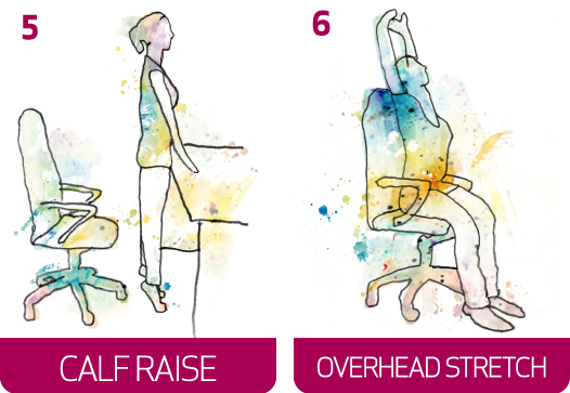 Six Stretches for your Workday -