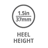 1.5-inch, 37mm heel height icon