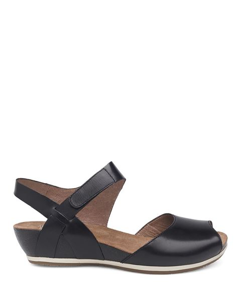 Dansko Vera Black Burnished Sandal OMEi5nRQj