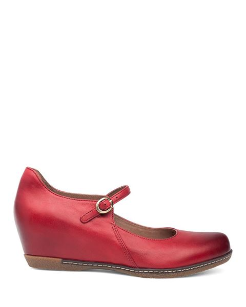 Picture of Loralie Red Burnished Nubuck