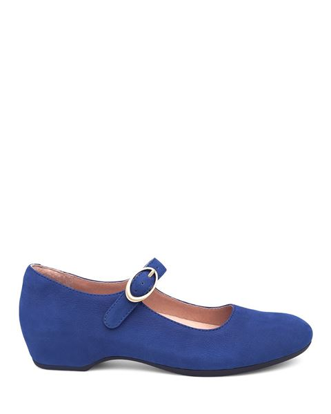 Picture of Linette Blue Milled Nubuck