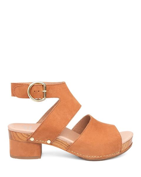 Minka Ankle Strap Block Heel Sandals