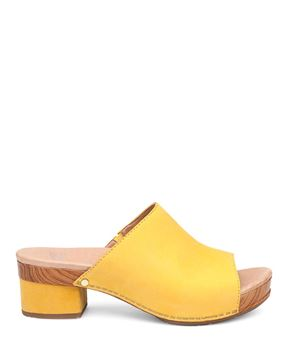 Picture of Maci Yellow Milled Nubuck