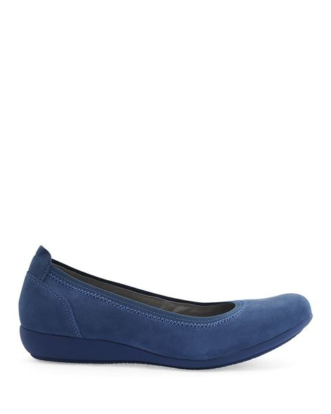 Picture of Kristen Blue Milled Nubuck