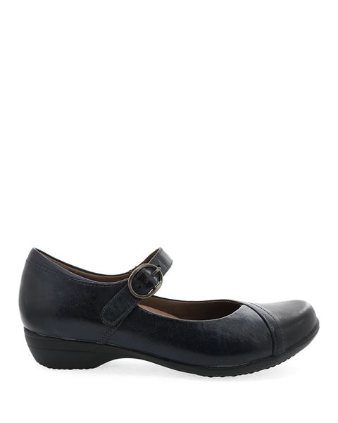 Picture of Fawna Navy Burnished Calf