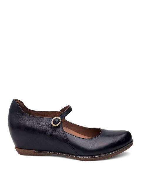 Picture of Loralie Navy Burnished Calf