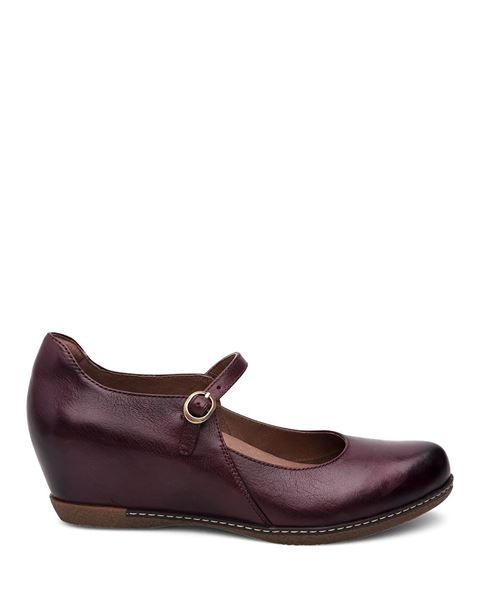Picture of Loralie Wine Burnished Calf