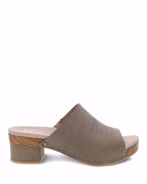 Picture of Maci Taupe Textured Leather