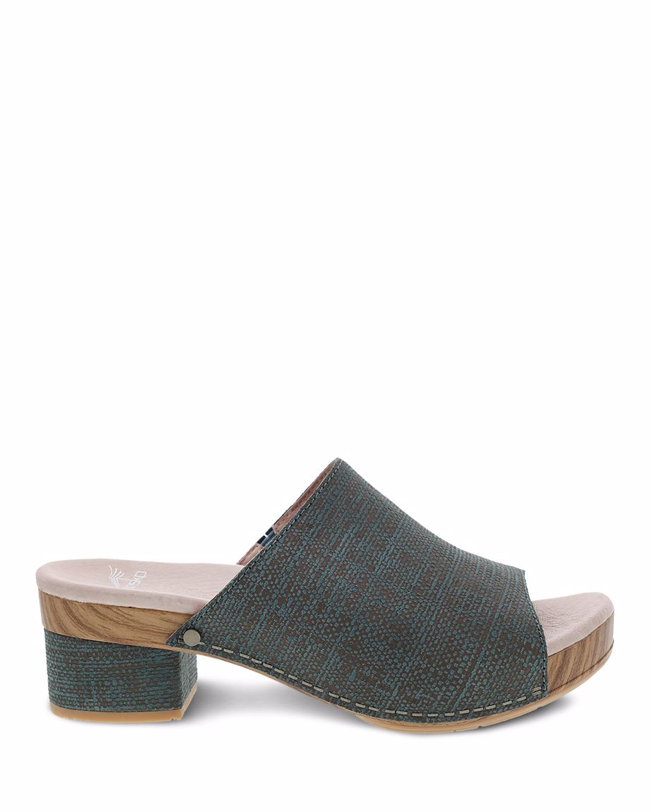 Picture of Maci Teal Textured Leather