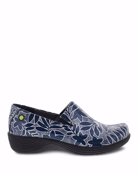 Picture of Coral Navy Floral Patent