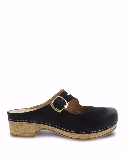 Picture of Britney Black Burnished Nubuck