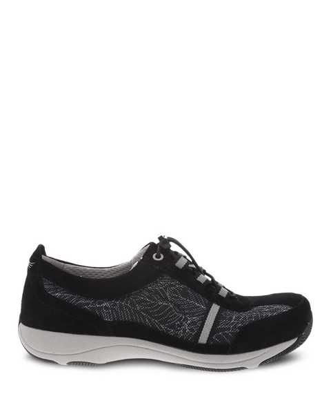 Picture of Helen Black Print Suede