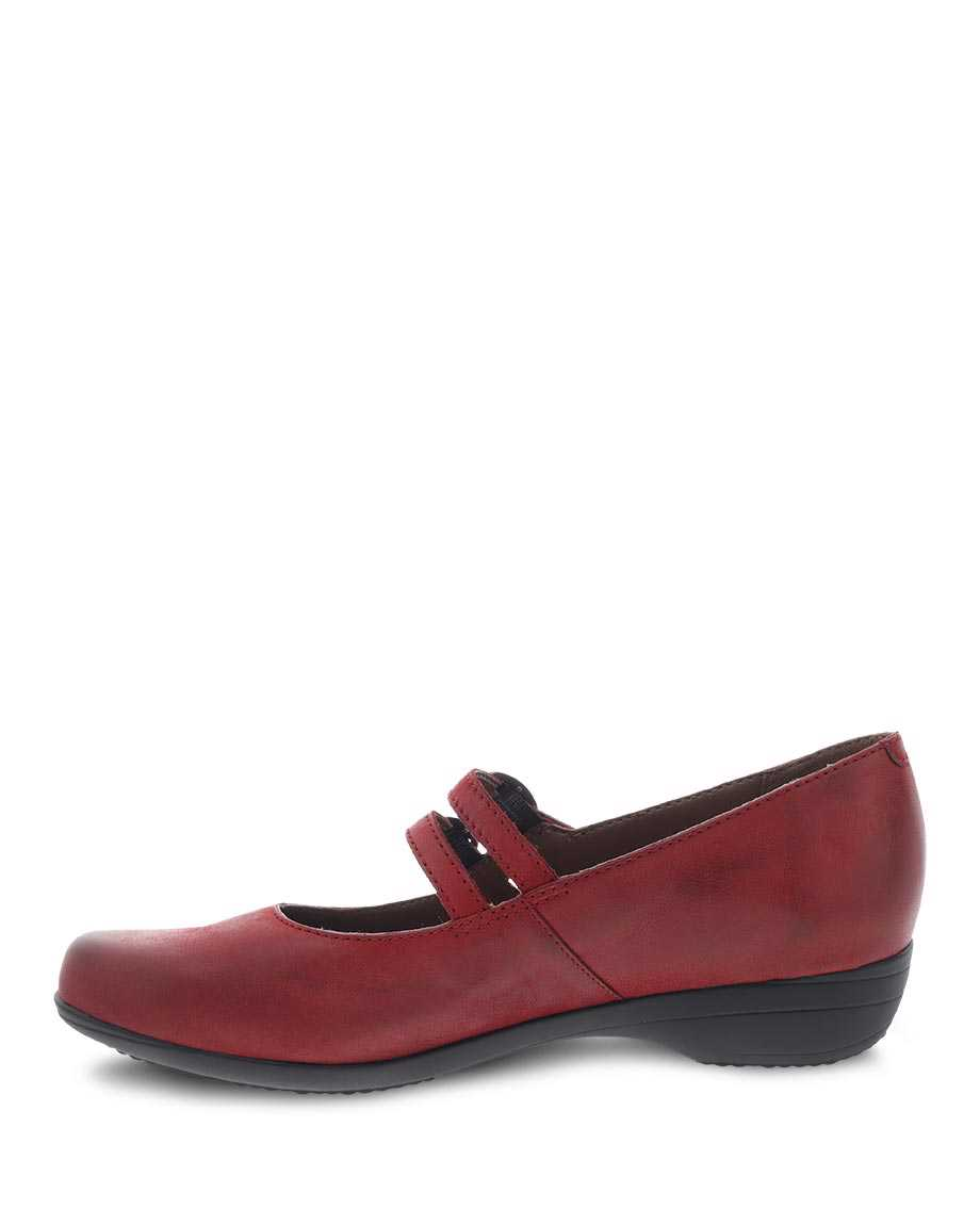 Picture of Fynn Red Burnished Nubuck